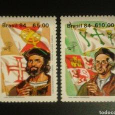 Sellos: BRASIL. YVERT 1654/5. SERIE COMPLETA NUEVA ***. DESCUBRIMIENTO DE AMÉRICA. CRISTÓBAL COLÓN. Lote 112579630