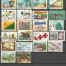 Sellos: BRASIL CONJUNTO DE SELLOS USADOS DIFERENTES. Lote 112781275