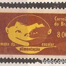 Sellos: BRASIL * & SEMANA DE LA ALIMENTACIÓN ESCOLAR 1964 (753). Lote 118140207