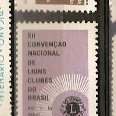 Sellos: BRASIL ** & XII CONVENCIÓN DEL CLUB DE LEONES DE BRASIL 1965 (773). Lote 118560843