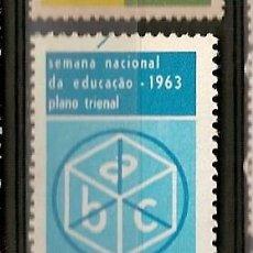 Sellos: BRASIL ** & SEMANA NACIONAL DE LA EDUCACIÓN 1963 (731). Lote 118561391