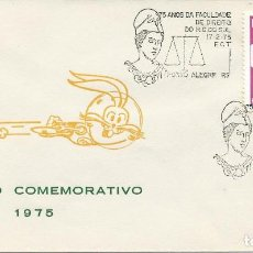 Sellos: 1975. BRASIL/BRAZIL. MATASELLOS/POSTMARK. 75 AÑOS FACULTAD DERECHO RIO GRANDE DO SUL. YT 1075. LAW.. Lote 121446427