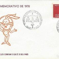 Sellos: 1978. BRASIL/BRAZIL. MATASELLOS/POSTMARK. TRIBUNAL SUPERIOR DEL TRABAJO. DERECHO. JUSTICIA. LAW.. Lote 121447595