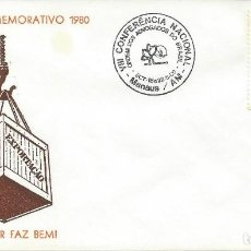 Sellos: 1980. BRASIL/BRAZIL. MANAUS. MATASELLOS/POSTMARK. VIII CONFERENCIA ABOGADOS. DERECHO. LAWYERS. LAW.. Lote 121448663
