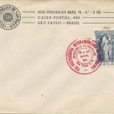 Sellos: 1954. SAO PAULO. MATASELLOS/POSTMARK. CONF. INTERAMERICANA DE ABOGADOS. DERECHO. JUSTICIA. LAWYERS.. Lote 121448891