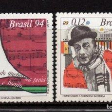 Sellos: BRASIL 2214/15** - AÑO 1994 - MUSICA POPULAR BRASILEÑA. Lote 130523134