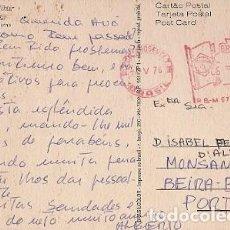 Sellos: BRASIL & MARCOFILIA, SANTOS, SAO PAULO, VISTA PARCIAL NOTURNA, MONSANTO PORTUGAL 1976 (3) . Lote 130610362