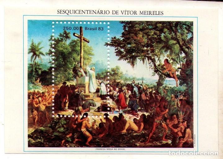 BRASIL, 1983, HB PRIMERA MISA EN BRASIL (Sellos - Extranjero - América - Brasil)