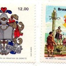Sellos: BRASIL, 2 SELLOS 1981 Y 1982. Lote 132239390