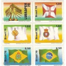 Sellos: BRASIL ** & BRASIL & LUBRAPEX 1978 (1330). Lote 135104294