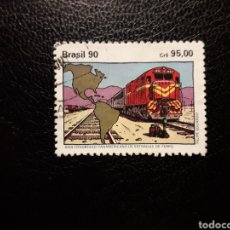 Sellos: BRASIL. YVERT 1978. SERIE COMPLETA USADA. TRENES.. Lote 136234885