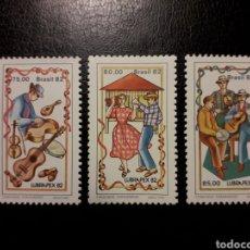 Sellos: BRASIL. YVERT 1561/3. SERIE COMPLETA NUEVA SIN CHARNELA. BAILES Y DANZAS. FANDANGO DE PARANÁ. Lote 136235262