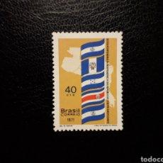 Sellos: BRASIL. YVERT 1963. SERIE COMPLETA NUEVA SIN CHARNELA. BANDERAS. Lote 136235398