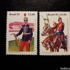 Sellos: BRASIL. YVERT 1517/8. SERIE COMPLETA NUEVA SIN CHARNELA. EJÉRCITO. UNIFORMES. POLICÍA MILITAR. Lote 136236100