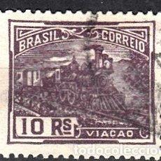Sellos: BRASIL, YVERT 163. USADO. TRENES.. Lote 254034985