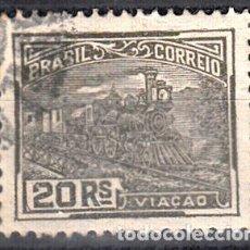 Sellos: BRASIL, YVERT 164. USADO. TRENES.. Lote 207234282