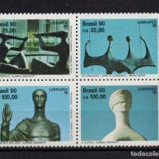 Sellos: BRASIL 1981/84** - AÑO 1990 - LUBRAPEX 90, EXPOSICION FILATELICA LUSO BRASILEÑA. Lote 142177674
