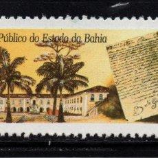 Sellos: BRASIL 1947** - AÑO 1990 - CENTENARIO DE LOS ARCHIVOS PUBLICOS DEL ESTADO DE BAHIA. Lote 142695498