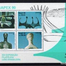 Sellos: BRASIL HB 84** - AÑO 1990 - LUBRAPEX 90, EXPOSICION FILATELICA LUSO BRASILEÑA. Lote 142705422