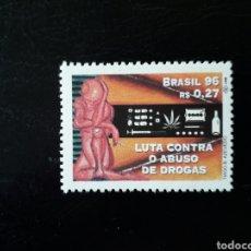 Sellos: BRASIL. YVERT 2286. SERIE COMPLETA NUEVA SIN CHARNELA. LUCHA CONTRA LAS DROGAS. Lote 142944980