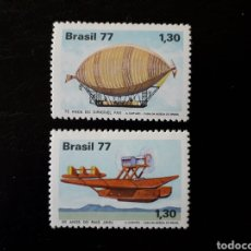 Sellos: BRASIL. YVERT 1283/4. SERIE COMPLETA NUEVA SIN CHARNELA. AVIONES. GLOBOS. Lote 142946505