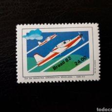 Sellos: BRASIL. YVERT 1564 SERIE COMPLETA NUEVA CON CHARNELA. AVIONES. INDUSTRIA AERONÁUTICA. AVIONES. Lote 142947452