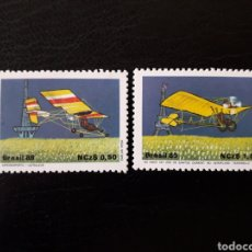 Sellos: BRASIL. YVERT 1925/6. SERIE COMPLETA NUEVA SIN CHARNELA. AVIONES. AVIACIÓN. Lote 142948088