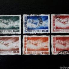 Sellos: BRASIL. YVERT A-69/74. SERIE COMPLETA USADA. AVIONES. AVIACIÓN. Lote 142949216