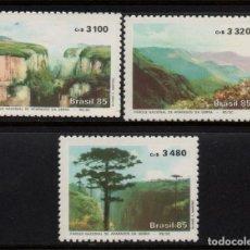 Sellos: BRASIL 1763/65** - AÑO 1985 - PARQUE NACIONAL APARADOS DA SERRA . Lote 143163850