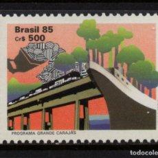 Sellos: BRASIL 1784** - AÑO 1985 - TRENES - DESARROLLO MINERO DE LA AMAZONIA DEL ESTE. Lote 143164514