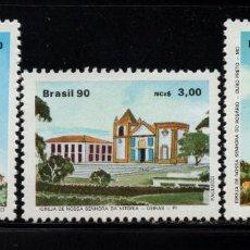 Sellos: BRASIL 1950/52** - AÑO 1990 - ARQUITECTURA RELIGIOSA. Lote 143164762