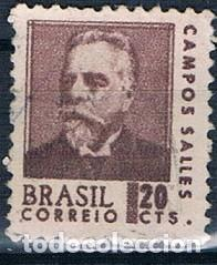 SELLO USADO BRASIL 1967 YVES 843 (Sellos - Extranjero - América - Brasil)