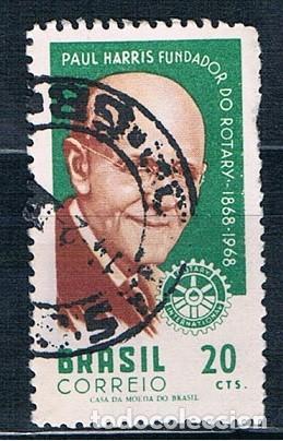 SELLO USADO BRASIL 1968 YVES 851 (Sellos - Extranjero - América - Brasil)