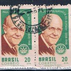 Sellos: SELLO USADO BRASIL 1968 YVES 851 BONITO BLOQUE DE 2. Lote 144251062