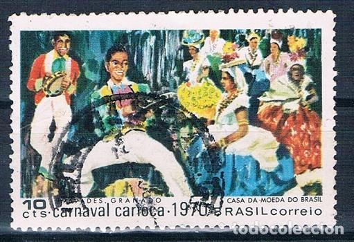 SELLO USADO BRASIL 1969 YVES 919 BONITO MATASELLOS (Sellos - Extranjero - América - Brasil)