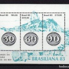 Sellos: BRASIL HB 54** - AÑO 1983 - BRASILIANA 83,EXPOSICION FILATELICA INTERNACIONAL. Lote 144964778