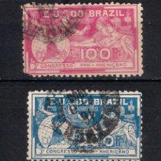 Sellos: BRASIL 1906 # 172 - 173 - USED - 4/43. Lote 147911766