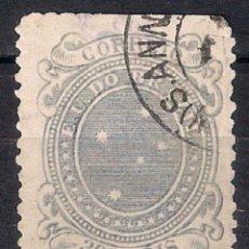 Sellos: BRASIL 1890-91 # 104 C. 300R SLATE VIOLET USED - 4/41. Lote 147914922