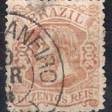 Sellos: BRASIL 1881 # 81 200R PALE RED BRN USED - 4/40. Lote 147917706