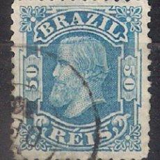 Sellos: BRASIL 1881 # 79 50R AZUL USADO - 4/40. Lote 147917754