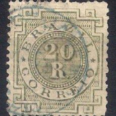 Sellos: BRASIL 1884-85 # 87 20R SLATE GREEN USED - 4/40. Lote 147917818