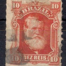Francobolli: BRASIL 1878-79 - SC # 68 A10 10R VERMILION - 4/40. Lote 147918418