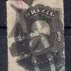 Sellos: BRASIL 1877 # 66 A9 200R NEGRO (' 77) USADO - 4/40. Lote 147918566
