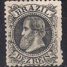 Sellos: BRASIL 1882-84 # 82 10R NEGRO - 4/40 MNG. Lote 147918678