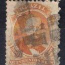 Sellos: BRASIL 1866 # 60 500R ORANGE USED - 4/40. Lote 147918762