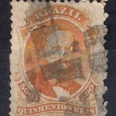 Sellos: BRASIL 1866 # 60 500R ORANGE USED - 4/40. Lote 147918762