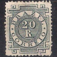 Sellos: BRASIL 1884-85 # 87 20R SLATE GREEN USED - 4/40. Lote 147919274