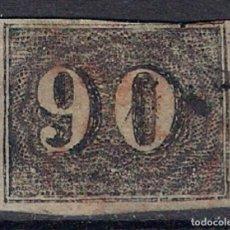 Sellos: BRASIL 1850 SC. 25 A3 90R NEGRO - 4/40 USADO. Lote 147919362