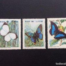 Sellos: BRASIL Nº YVERT 1794/6*** AÑO 1986. MARIPOSAS. . Lote 148105742