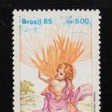 Sellos: BRASIL 1783** - AÑO 1985 - DIA NACIONAL DE ACCION DE GRACIAS. Lote 295529328
